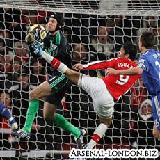 Эдуардо, опасная игра, фото, Арсенал - Челси