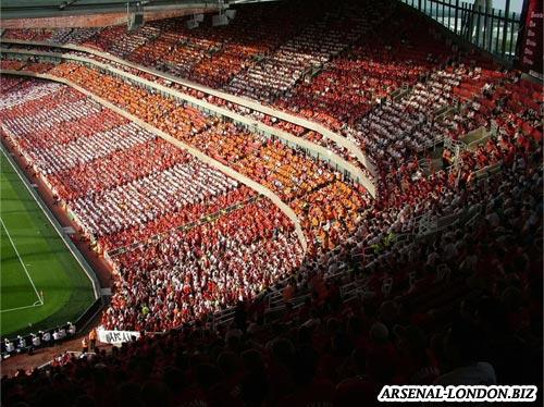 Стадион Эмирейтс, внутренне трибуны