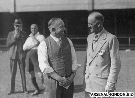 Герберт Чепмен был первым кто выиграл с Арсеналом кубок Англии