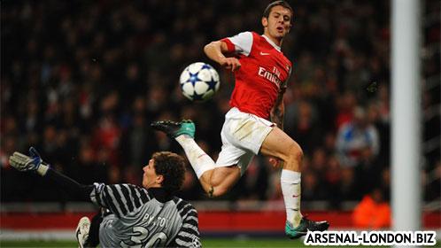 Один из первых голов за Арсенал