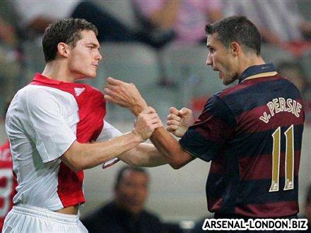 Когда-то, Вермален и Ван Перси играли за разные клубы