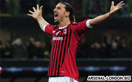 Ибрагимович забивает победный гол Арсеналу