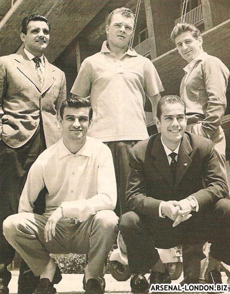 Ласло Кубала с товарищами по команде