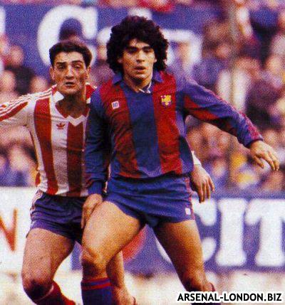 Марадона в Барселоне под руководством Менотти