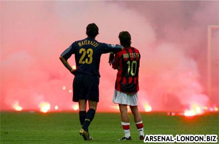 В 1/8 Лиги Чемпионов Арсенал играет с Миланом