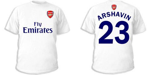 Светлая футболка с номером 23