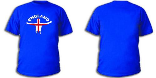 Синяя футболка сборная Англии