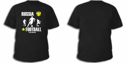 Черная футболка русский футбол