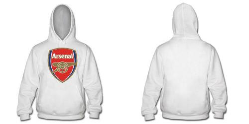 Белая толстовка с логотипом Арсенала