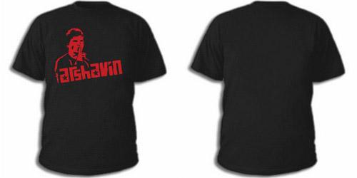 Черная футболка с красным портретом Аршавина