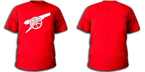 Красная футболка пушка Арсенала