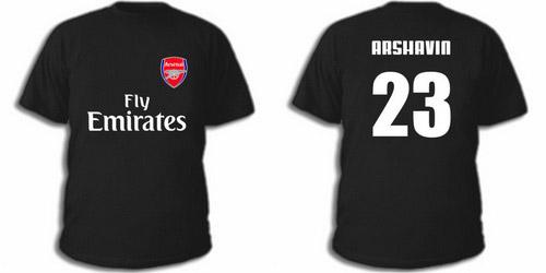 Черная футболка Аршавин
